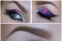مكياج العيد: مكياج عيون براق بثلاثة ألوان متدرجة