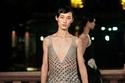 فستان مزين بتصميم شبكة من مجموعة Lanvin