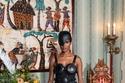 فستان أسود طبقات من Pyer Moss
