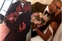 داليا مبارك تعرضت للانتقادات بسبب تقبيلها لزوجها في حفل زفافهما