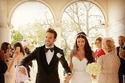 سيسك فابريغاس وعروسه اللبنانية دانييلا سمعان خلال مراسم الزفاف