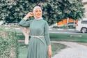 فستان كاجوال من ملابس محجبات للعيد 2021
