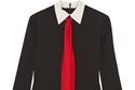 """فستان أسود وأبيض وأحمر قطن من """"Gucci"""""""