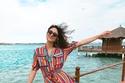 الفستان القميص اختيارك على الشاطئ
