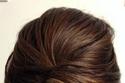 تسرحة شعر مرفوعة على شكل ملفوف