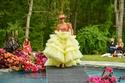 فستان منفوش من قطعتين من مجموعة Christian Siriano