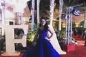 ديما الجندي ترتدي فستاناً منفوشاً من الأزرق الزهري