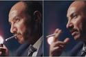 ظهر أحمد فهيم وهو يشعل السيجارة من الجهة الخاطئة في مسلسل أرض جو