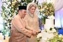 صور زفاف ولي عهد ماليزيا وعروسه السويدية