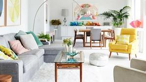 أحدث صيحات غرف معيشة 2019 بألوان صيفية