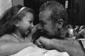 شريف منير مع حفيدته لارا