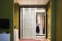 خزانة ملابس شفاف أخضر