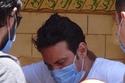 حزن سعد الصغير في جنازة حسن حسني