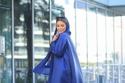 فاطمة حسام بإطلالة  كاملة باللون الأزرق