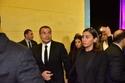 عمرو دياب ودينا الشربيني من عزاء الرئيس محمد حسني مبارك