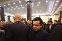 محمد هنيدي من عزاء الرئيس الأسبق محمد حسني مبارك