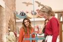 الملكة رانيا العبدالله وملكة بلجيكا ماتيلد