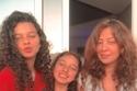 شيماء عقيد مع ابنتيها هنا وحلا