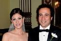 زواج الفنانة بسمة من النائب المصري عمرو حمزاوي في فبراير 2012.