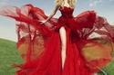 فساتين خطوبة ناعمة باللون حمراء لفرحتك في عيد الحب
