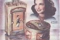 أحد الإعلانات لمواد تجميل يحمل صورة شادية