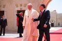 جلالة الملك عبد الله الثاني في استقبال البابا فرنسيس الأول
