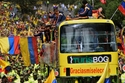 الإستقبال الحاشد لمنتخب كولومبيا