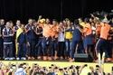 نجوم منتخب كولومبيا على المسرح