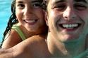 أحمد الفيشاوي مع ابنته لينا