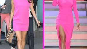 أجمل إطلالات المشاهير بأزياء وردية