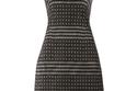 فستان أسود مخطط بالأبيض من Agnona