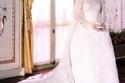 فستان زفاف غريس كيلي للمصممة هيلين روز مؤلف من 25 يارد من التافتا و100 يارد من الحرير الطبيعي