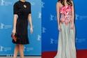 أليساندرا ماستروناردي بفستان أسود من لويس فوتون وفستان مزهر من إيلي صعب في مهرجان برلين السينمائي