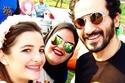 صور عيد ميلاد توأم أصالة وطارق العريان بحضور أحمد عز، أحمد حلمي ومنى زكي