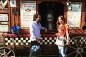 صور شريف رمزي وعروسه ريهام أيمن في زيارة لديزني لاند وهوليوود