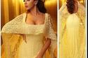 صور ميريام فارس بفستان أصفر من الخيال بتوقيع رامي القاضي