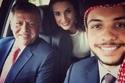 الملكة رانيا العبدالله وزوجها وابنها ولي العهد