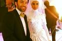 شريف رمزي وريهام أيمن في مشهد زواج ريهام في مسلسل