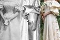 عروس تختار فستان زفاف عائلي عمره 120 عاماً شاهدوا جداتها اللواتي ارتدينه قبلها