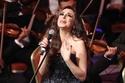 صور أنغام تبدو كالأميرات بفستان أسود في حفل ختام مهرجان الموسيقى العربية