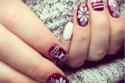 Christmas Nails! طلاء الأظافر برسومات عيد الميلاد