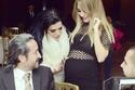 صور داليدا عياش تحتفل بعيد ميلادها بفستان شبكي يكشف عن ملامح حملها