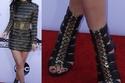 أحذية نجمة تلفزيون الواقع كايلي جينر عالية وعصرية وجريئة وجذابة
