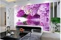 زيني منزلك بلمسات طبيعية باختيارك رسومات الورود من ورق الجدران الثلاثي الأبعاد