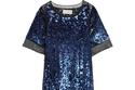 فستان باللون الكحلي من الترتر تصميم MALENE BIRGER