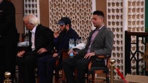 أحمد الفيشاوي يحتضن أحمد السقا ويبكي بحرقة في عزاء والده...لقطات محزنة