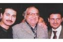 رامز جلال وياسر جلال مع والدهما المخرج جلال توفيق