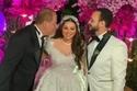 هنادي مهنا مع والدها الملحن هاني مهنا وزوجها أحمد خالد صالح