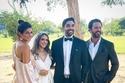 العروسان مع عمر الشناوي وزوجته