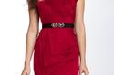 فستان أحمر قصير ناعم لسهرة الفالنتاين